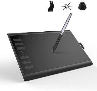تابلت الرسم من هيووين - Huion Inspiroy H1060P - مزود بقلم استجابة للميل - قلم بدون بطارية - حساسية ضغط للقلم 8192