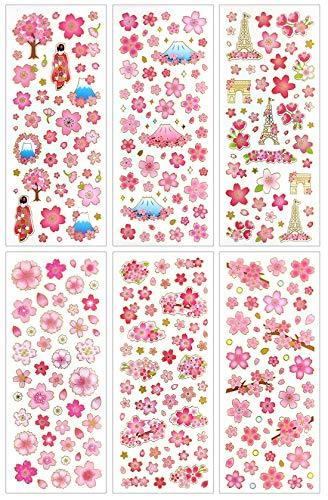 HighMount 桜シール 手帳シール レジンの封印に 子供や学生にごほうびシール 6枚セット