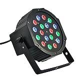 tempo di saldi Faro Rgb 18W Faretto 18 Led Vari Colori Discoteca Sensore Sonoro Luce Color...