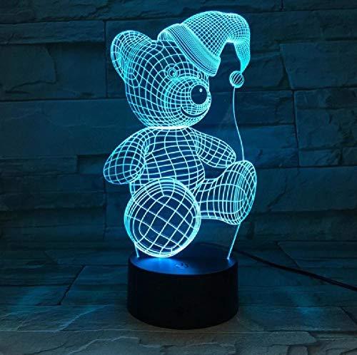 Panda 3D Led Illusion Lampada Da Tavolo Arredamento Da Tavolino Luci Con Sensore Atmosfera Lampade Da Notte Da Comodino Regalo Di Compleanno