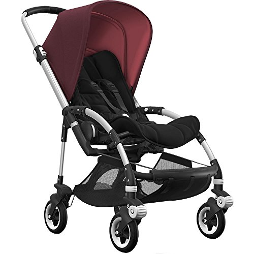 Buy Discount Bugaboo Bee5 Complete Stroller with Aluminum Frame with Black Seat Fabric and Red Melan...