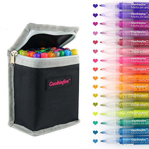 GUOBINFEN Acrylic Paint Pens, Fine Tip Paint Pens, 36 Colors Acrylic Markers Pen for Rock Painting Art Stone, Wood, Glass, Ceramic, Fabric, Canvas, Mugs, DIY Craft Making Supplies Craft