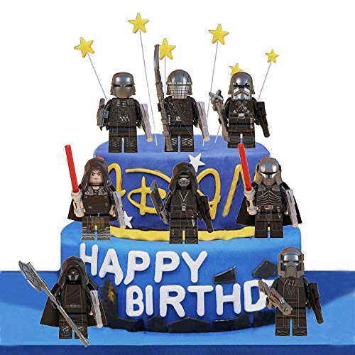 LVEUD 8PCS Star wars Cake Topper, Children Mini Toys Cupcake Toppers for Birthday Party Supplies (4)