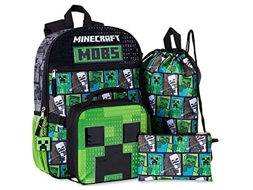 Minecraft 5-Piece Backpack Set, No Color, Size No Size