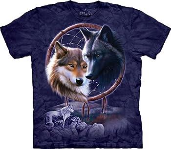 The Mountain Dream Catcher Wolves T-Shirt 3X-Large Blue/Purple