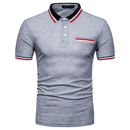 WUAI-Men Paisley Polo Shirt Casual Snakeskin Leopard Short Sleeve Funny Graphic Tee Jersey Polo Cotton Shirt Tops
