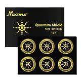 Naomo Strahlenschutz Aufkleber für Handy, Strahlung Abschirmung, Quantenschild, EMF Blocker für Alle Elektronik Geräte (6 Pcs, Gold)
