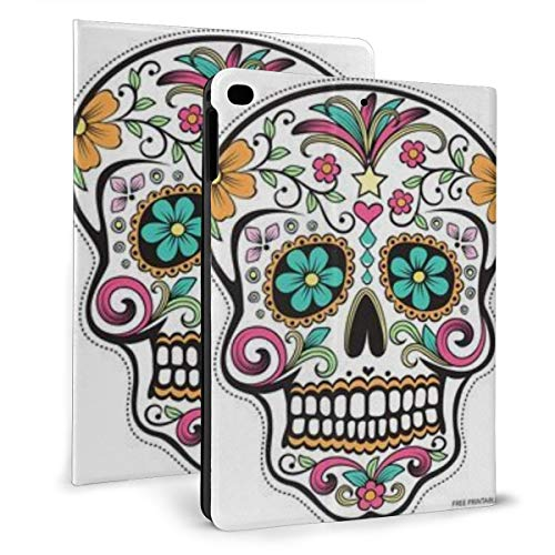 Sugar Skull Art Day Case For Ipad Mini 4/5 7.9 Inch Cover Protective Smart Trifold Stand Cover With Auto Sleep/Wake For Apple Ipad Tablet