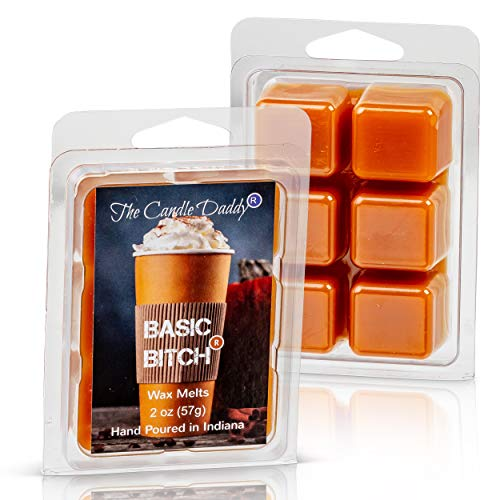 Basic Bitch- Funny Pumpkin Spice Scented Melt- Maximum Scent Wax Cubes/Melts- 1 Pack -2 Ounces- 6 Cubes