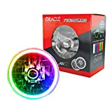 ORACLE Pre-Installed Glass Lens Sealed Beam 7' Headlights with Color LED Halo (ColorSHIFT)