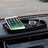 topfit Anti-Slip Car Dash Grip Pad for Cell Phone, Keychains, Sun Glasses,Stand for Navigation Cell Phone (Black)