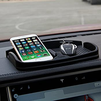 ThinSGO Anti-Slip Car Dash Grip Pad for Cell Phone Keychains Sun Glasses,Stand for Navigation Cell Phone  Black