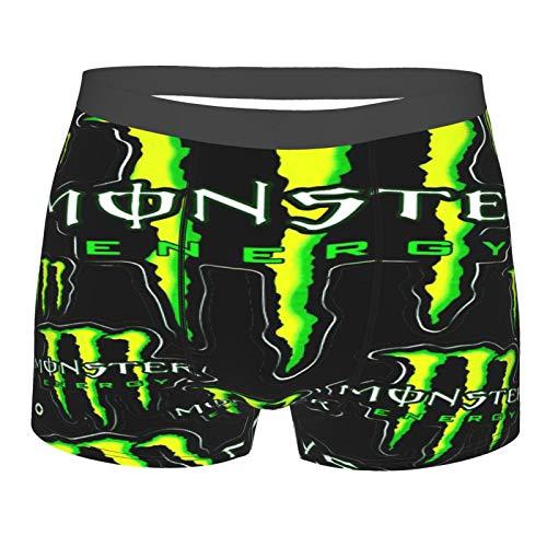 Monster E-nergy Men's Boxer Briefs Boxer Briefs Leggings Performance Sports Briefs Suitable for Men Youth Large Black