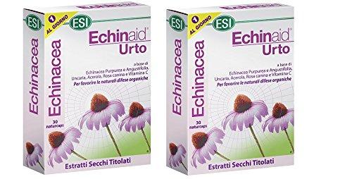 ESI - ECHINAID URTO 2 CONFEZIONI DA 30 NATURCAPS difese immunitarie, raffreddore, influenza, mal di gola
