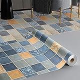 KINLO Revestimiento de suelo de PVC Baldosas autoadhesivas Suelo de vinilo resistente a la abrasión...