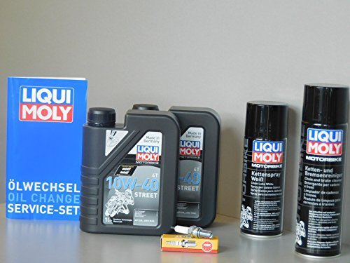 MotorFunSports Kit d'entretien SYM Wolf 250 Huile Bougie d'allumage Service d'inspection vidange
