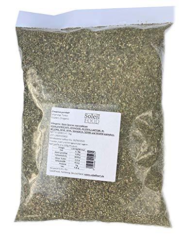 1 kg Oregano gerebelt 1 kg feinste Qualität Natur Oregano getrocknet GMO frei Soleilfood