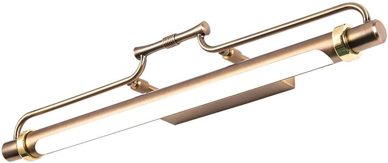 Amerikanischen led-Spiegel Scheinwerfer, Badezimmer europischen Badezimmer Spiegelschrank Licht wc Kommode Make-up-Leuchten kreative Wandleuchte Lnge 47 62 83 cm wasserdicht, beschlagfrei (Gre  47 cm)