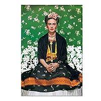 フリーダ・カーロポスタープリントスペインの現代的なシダの花の煙でアート定義ヴィンテージ水彩ポートレートキャンバスプリント画像ホームウォールアート装飾、非フレーム,Meditate,40x60cm