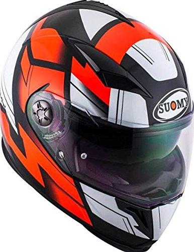 SUOMY スオーミー Halo Street 2017 フルフェイス ヘルメット サンバイザー バイク ハロー ストリート (XL(61〜62cm) 黒/赤/白)