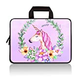 RUYIDAY 11 11.6 12 12.1 12.5 inch Laptop Carrying Bag Chromebook Case Notebook Ultrabook Bag Tablet Cover Neoprene Sleeve Fit Apple MacBook Air Samsung Acer HP DELL Lenovo Asus(Cute Unicorn)