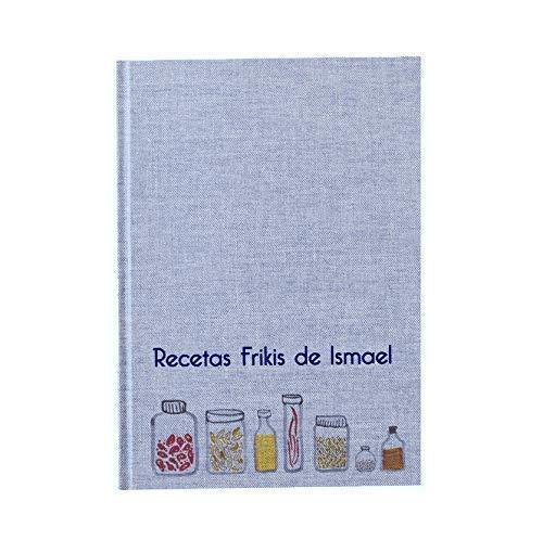 Recetario en blanco personalizado con tu nombre o frase 15x21 | Libro de recetas de cocina para escribir tapa dura A5 | Cuaderno de recetas con índice y páginas en español | Artesanal y local