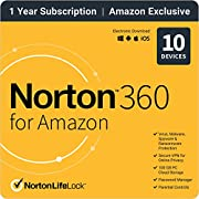 Norton 360 for Amazon 2021 – Antivirus software for up to 10 Devices with Auto Renewal