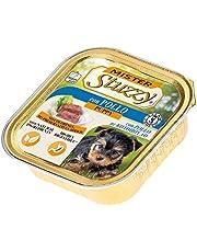 Stuzzy Mister, Comida húmeda para Perros Adultos, Sabor Pollo, paté y Carne en trozos - Total 3,3 kg (22 tarrinas x 150 gr)