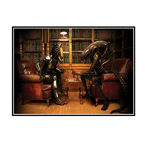 FJPDLAKE Alien Vs. Predator Game Posters and Prints Canvas Painting Wall Art Pictures for Living Room Decor -20X28 Inch No Frame 1 PCS