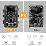 SUNTEKCAM Wildlife Trap Camera 16MP Night Vision Motion Activated with Upgraded Waterproof Design 1080P Trail Camera No Glow for Wildlife Watching