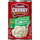 Campbell's Chunky Healthy Request New England Clam Chowder, 18.8 oz. Can (Pack of 12)