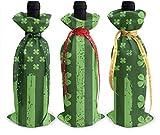 Bolsas para botella de vino con diseño de bandera de clavo fino, 3 unidades, para decoración de mesa de vacaciones talla única Como se muestra en la imagen