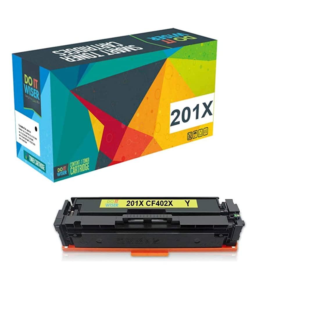 Do it Wiser Compatible Toner Cartridge Replacement for HP 201X 201A CF402A for use in HP MFP M277dw M252dw M277n M277c6 M277 M252n M252 (Yellow)