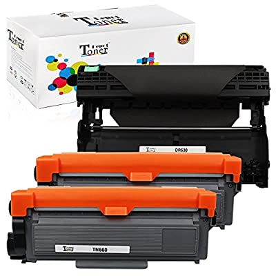 1 PACK/2 PACK/4 PACK/10 PACK Compatible with Brother TN660 Toner Cartridge; Black Drum Unit for Brother DR630; 2 Toner + 1 Drum