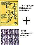 Karahandelshaus 116 Wing-Tsun-Holzpuppen-Techniken & Poster