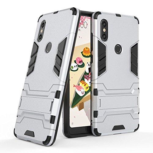 SCIMIN Xiaomi Mi Mix 2s Case, Xiaomi Mi Mix 2s capa híbrida, camada dupla à prova de choque, capa rígida híbrida resistente com suporte para Xiaomi Mi Mix 2s de 5,99 polegadas