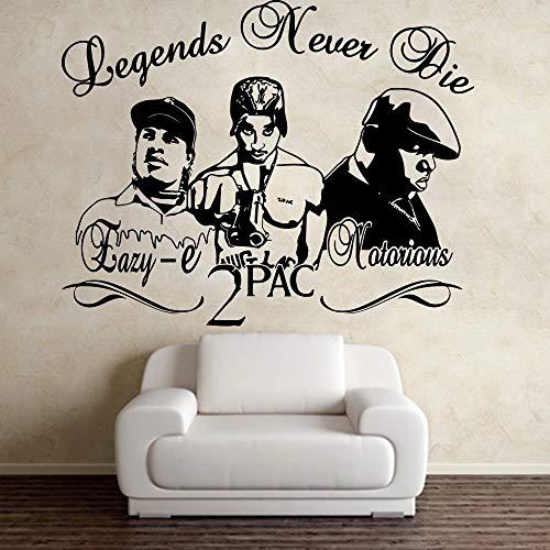 Notorious Rapper Wall Sticker Music Star Vinilo Decoración para el hogar