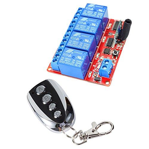 4 Kanal Infrarot Empfänger Modul Relais Modul Board + Fernbedienung Schalter - 5V Metall Copy