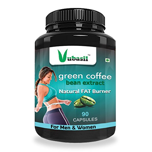 Vubasil Pure Natural Green Coffee Bean Extract 800mg 50 Percent CGA Weight Management Product 90 Capsules Pack