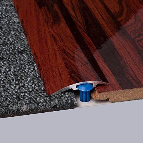 Laminat-Ausgleichsschiene Rio Palisander Superglanz 900 mm, für 4 - 14 mm Höhenunterschied