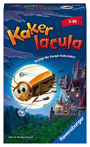 Ravensburger Mitbringspiele 20638 20638-Kinderspiel Kakerlacula, kooperatives Wettlaufspiel ab 5 Jahren