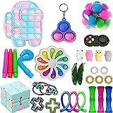 Paquete de juguetes Fidget, juguetes sensoriales Fidget baratos, Fidget Toy Set Fidget Packs Fidget Box, Fidget Pack con Stress Ball Marble Mesh, regalos para niños, adultos con autismo (G)