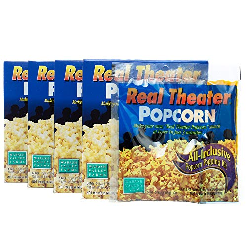 Wabash Valley Farms All Inclusive Popping Kits - Real Theater Popcorn - 5 Kit - 4 Pack