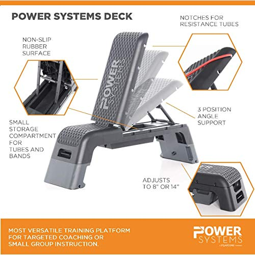 Power Systems Fitness Deck, for Cardio Workouts and Strength Training