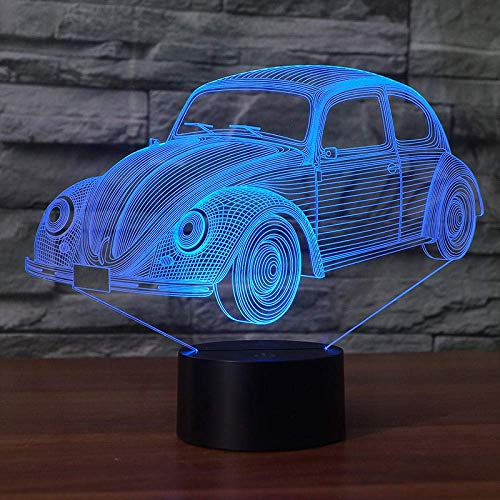 3D Illusion Lamp Led Night Light Toy Car Beside Help Children Fell Safely at 7 Colors Perfect Birthday Gift for Children Great Toys
