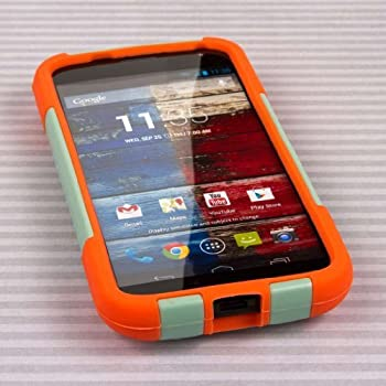 MPERO IMPACT X Series Kickstand Case for Motorola Moto X  1st Gen  XT1060 XT1056 XT1053 - Coral/Mint
