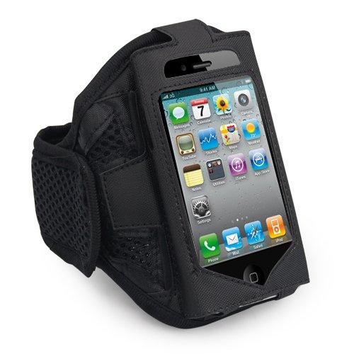 TRIXES DIGIFLEX Brassard Velcro Sport pour Apple iPhone 4, 4G, 3GS, 3G, iPod Touch Noir