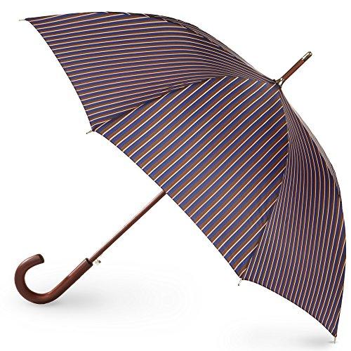 totes Regenschirm mit Holzstab Herren Streifen Einheitsgröße