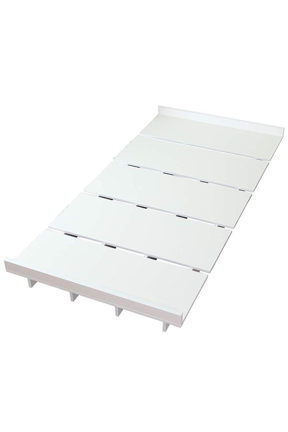 異なる人事滴下DORIS ベッド ベッドフレーム シングル ロースタイル すのこ仕様 組立式 ホワイト ゼスト