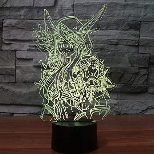 Nachtlampe 3d Lampe World Of Warcraft Kinder Nachtlicht Led Schlafzimmer Dekor Weihnachtsgeschenk Wow Sylvanas Windrunner Kinder Nachtlampe Usb